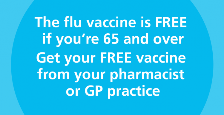 over 65 free flu vaccine information