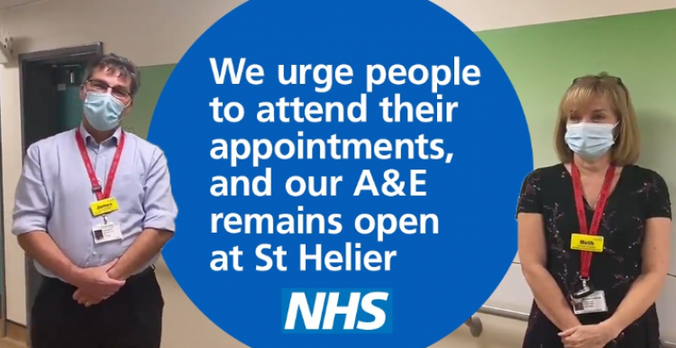 St Helier urge people to attend appointments and A&E