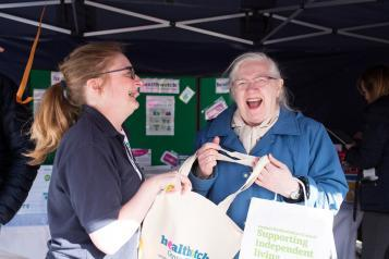 Healthwatch volunteers at event