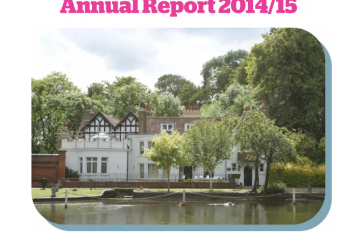 front cover of annual report 2014-15