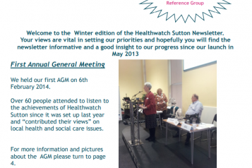 front cover newsletter winter 2013