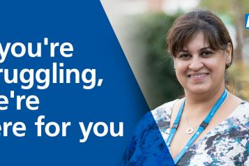 the nhs is still here for you if you're struggling