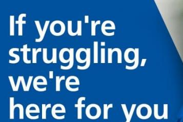 if you're struggling, the nhs is here for you