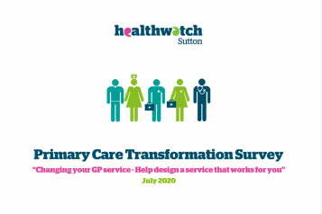 front cover of primary care transformation survey report