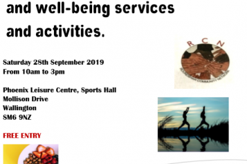 RCN health and wellbeing brunch flyer