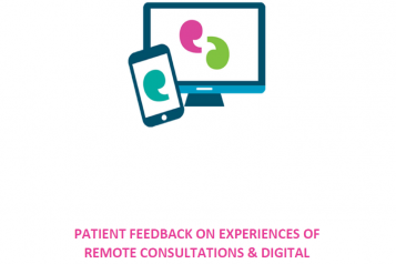 front cover of patient feedback of remote consultations & digital prescriptions report