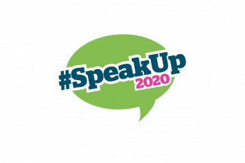 speak up 2020 graphic