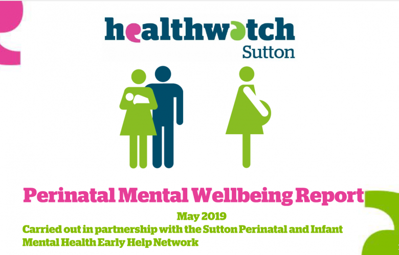 Front cover of perinatal mental health report
