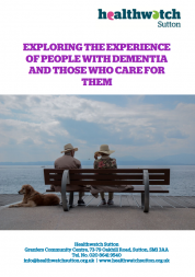 front cover of carers of people with dementia report