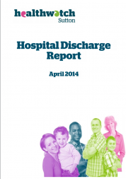 Front cover of hospital discharge report
