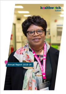 Healthwatch Sutton Annual Review Front Cover