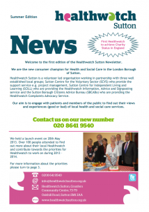 Summer 2013 newsletter front cover