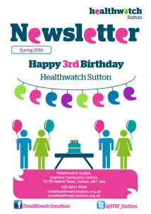 front cover newsletter spring 2016