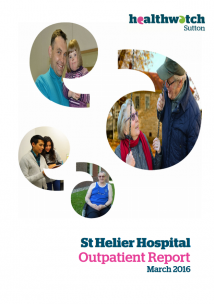 front cover of outpatient report